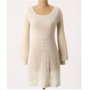 Alpaca Anthropologie Bishop Sleeve Knit Dress M